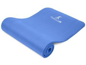 """Prosource Fit Extra Thick Yoga and Pilates Mat ½"""", High Density Comfort Foam with Carrying Strap"""