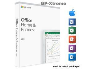 Microsoft Office 2019 Home and Business | Product Key Card | Retail Box USA | Compatible with Mac /  Windows 10 / Mac OS