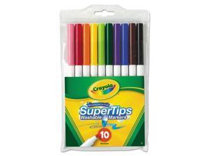 Crayola Washable SuperTips Markers Assorted 10/Pack 588610