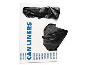 "RePrime Can Liners 16 gal 1 mil Black 24"" x 32"" 250/Carton H4832TKX01"