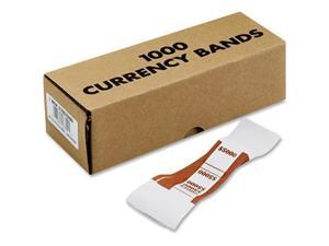 Coin-Tainer Currency Straps Brown $5 000 in $50 Bills 1000 Bands/Pack 405000
