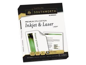 Southworth Premium 25% Cotton Paper 24lb 97 Bright 8 1/2 x 11 Wicked White 250