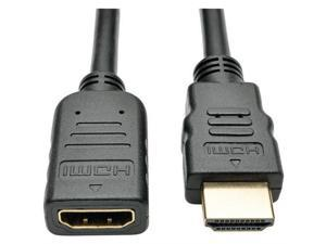 Tripp Lite P569-006-MF 6 ft. Black Connector on First End:1 x HDMI Male Digital Audio/Video Connector on Second End:1 x HDMI Female Digital Audio/Video