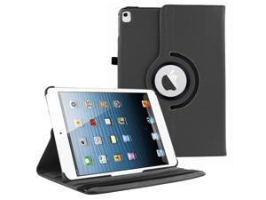 KIQ 360 Rotating Swivel PU Leather Protection Case Cover Multi-Angle View Stand For Apple iPad Pro 12.9-inch (1st Generation) (Black)