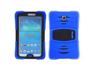 Blue Heavy Duty Armor Hybrid Shock-Proof Kid-Proof Protection Case Cover for Samsung Galaxy Tab 3 7 P3200 T210 T217R