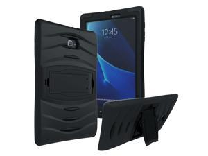 Black Heavy Duty Armor Hybrid Shock-Proof Kid-Proof Protection Case Cover for Samsung Galaxy Tab E 9.6 T560