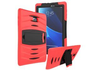 Red Heavy Duty Armor Hybrid Shock-Proof Kid-Proof Protection Case Cover for Samsung Galaxy Tab E 9.6 T560
