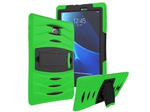 Green Heavy Duty Armor Hybrid Shock-Proof Kid-Proof Protection Case Cover for Samsung Galaxy Tab E 9.6 T560
