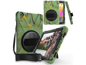 Galaxy Tab A 8.0 Case, Fits T290 2019, Shockproof Heavy Duty Case, Tempered Glass Screen Protector, Kickstand, Shoulderstrap Sling, For Samsung Galaxy Tab A 8.0 2019 SM-T290 (Camouflage)