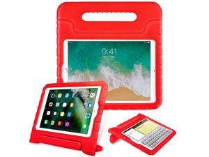 iPad 10.2 Case, EVA Foam Kid Friendly Shockproof Drop Protection Case Cover for Apple iPad 10.2 7th 8th 2019/2020 Generation (Red)
