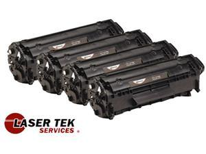 Laser Tek Services® 4 Pack High Yield Canon 104 0263B001A Toner Cartridges for the Canon ImageClass MF4690 D420 D480