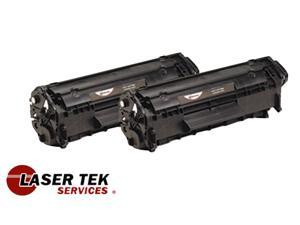 Laser Tek Services® 2 Pack Premium Toner Cartridge for the Canon 104 FX-9 FX-10 ImageClass MF4690 MF4370dn D420 D480