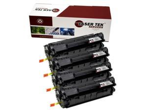 Laser Tek Services® 4 Pack HP Q2612X (12X) High Yield Compatible Replacement Toner Cartridges