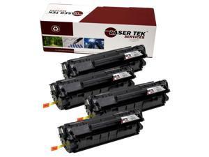 Laser Tek Services® 4 Pack HP Q2612A (12A) Compatible Replacement Toner Cartridges