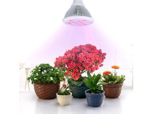 Patazon 12 LED Indoor Garden Plant Grow Light Bulb - 36W E27(3 Blue LED & 9 Red LED) Hydroponic Lamp for Flower Plants Growth Vegetable Greenhouse