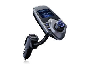 Wireless Bluetooth FM Transmitter& USB Car Charger 1.44 Inch Screen Supports Display Car Battery Voltage, Song Names, Incoming Phone Number
