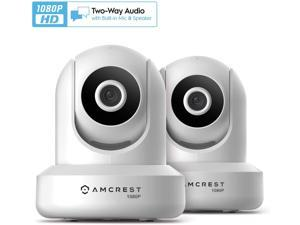 Amcrest 2-Pack 1080p WiFi Camera Indoor, 2MP Pan/Tilt Home Security Camera, Auto-Tracking, Motion & Audio Detection, Enhanced Browser Compatibility, H.265, Two-Way Talk 2PACK-IP2M-841W-V3 (White)