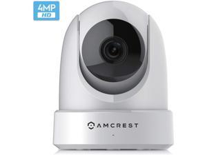 Amcrest 4MP UltraHD Indoor WiFi Camera, Security IP Camera with Pan/Tilt, Two-Way Audio, Night Vision, Remote Viewing, Dual-Band 5ghz/2.4ghz, 4-Megapixel @~20FPS, Wide 120° FOV, IP4M-1051W (White)