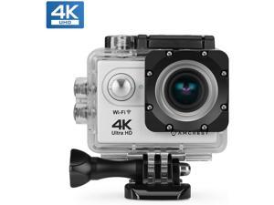 Amcrest GO 4K Sports Action Camera 16MP Lens, Underwater Waterproof Camera, 170° Wide Angle WiFi Sports Cam with Remote 1 Battery and Mounting Accessories Kit, AC4K-600