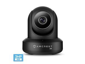 Amcrest UltraHD 2K (3MP/2304TVL) WiFi Video Security IP Camera with Pan/Tilt, Dual Band 5ghz/2.4ghz, Two-Way Audio, 3-Megapixel @ 20FPS, Wide 90° Viewing Angle and Night Vision IP3M-941B (Black)