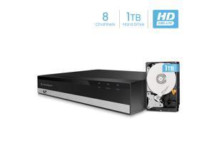 Amcrest 1080-Lite 8CH DVR Digital Recorder, HD Pentabrid (5-1) Supports 960H/HDCVI/HDTVI/AHD & Amcrest IP Cameras, Pre-Installed 1TB HDD, Cameras NOT Included, Security Camera System (AMDVTENL8-1TB)