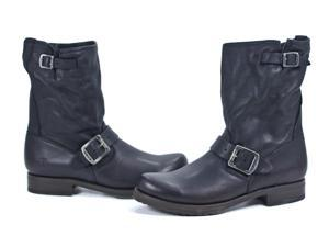 Frye Veronica Shortie Black Soft Vintage Leather Fashion Boot Shoes 9 New