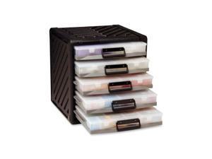 "Flambeau, Inc Divider System Cabinet 5 Trays 15-1/2""x15-3/4""x14-1/2"" BK"