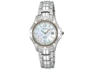 Seiko Coutura Mother-of-Pearl Dial Silver-tone Steel Crystal Ladies Watch SXDE19