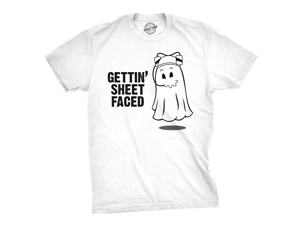 e4a950358 Getting Sheet Faced T Shirt Funny Halloween Drinking ...