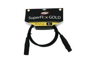 SuperFlex GOLD SFM-3 Premium Microphone Cable 3'