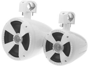 "Soundstream WTS-8W Pair (2) of Gloss White 8"" Wake Tower Speakers"