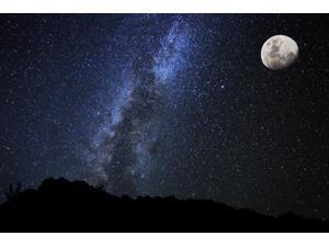 Stars in the Night Sky Milky Way Galaxy Poster Print (17 x 11)