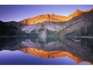 Posterazzi DPI111345 Mountain at Sunset Kootenays British Columbia Canada Poster Print - 17 x 11 in.