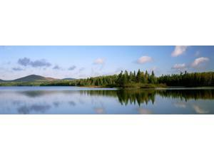 Mount Carleton Provincial Park And Bathurst Lake, New Brunswick. Poster Print (26 x 8)