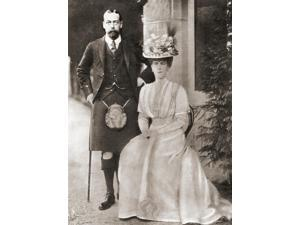 The Prince Of Wales Later King George V With His Wife Mary Of Teck In 1909 George V George Frederick Ernest Albert 1865 Poster Print (12 x 17)