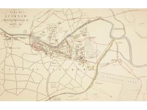 Plan Of Lucknow Showing Operations During The Siege And Indian Rebellion Of 1857 - 1858. From The Age We Live In, A Hist