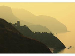 Watch Towers On The Maro-Cerro Gordo Cliffs, Between Maro In Malaga Province And La Herradura; Granada Province, Spain