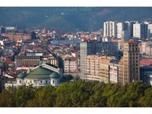Spain, Bilbao, Parque Etxebarria Park Poster Print by Walter Bibikow (19 x 12)