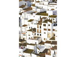 Elevated View Of Moorish Houses Casares Malaga Province Spain Poster Print (12 x 18)