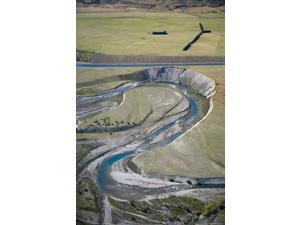 Ohau River and Ohau Canal, Mackenzie Country, South Island, New Zealand Print by David Wall (11 x 17)