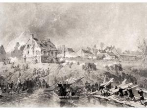 Attack On Fredericksburg Virginia After Alonso Chappel Published In National History Of The War For The Union 1860S Poster Print (17 x 12)