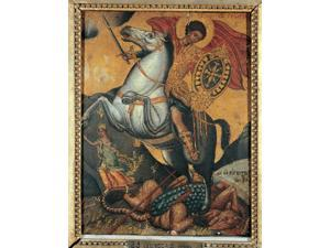 St George And The Dragon Poster Print (18 x 24)