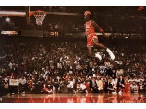 Michael Jordan Slam Dunk Poster Print (36 x 24)