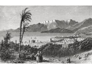 A View Of Beirut And The Lebanon In The 19Th Century From El Mundo En La Mano Published 1875 Poster Print (18 x 11)