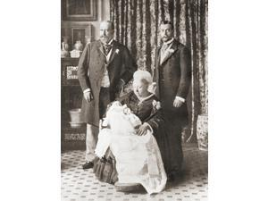 Queen Victoria Holding Her Great Grandson Prince Edward Later Edward Viii In 1894 Stood Behind Her Left Her Son Edward Prince Of Wales Later Edward Vii And Right Her Grandson George Later King George