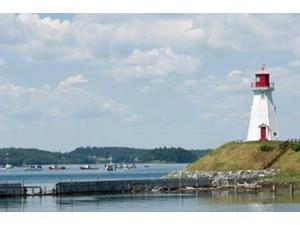 Mulholland Lighthouse, New Brunswick Poster Print by Keith & Rebecca Snell (36 x 24)