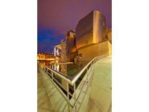 Guggenheim Museum lit at night, Bilbao, Spain Poster Print by Jaynes Gallery (18 x 24)