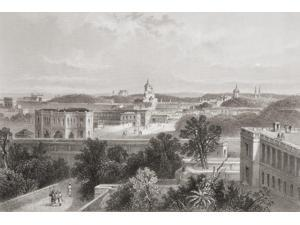 Lucknow, India, From A 19Th Century Print. From The Age We Live In, A History Of The Nineteenth Century Print (18 x 12)