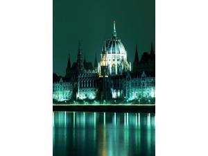 RWatts Parliament Building At Night Budapest Hungary Poster Print (11 x 17)