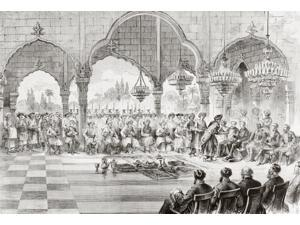 Reception For The Governor General Of India By The Rajah Of Lucknow In 1868 From Lunivers Illustre Published In Paris In 1868 Poster Print (17 x 12)